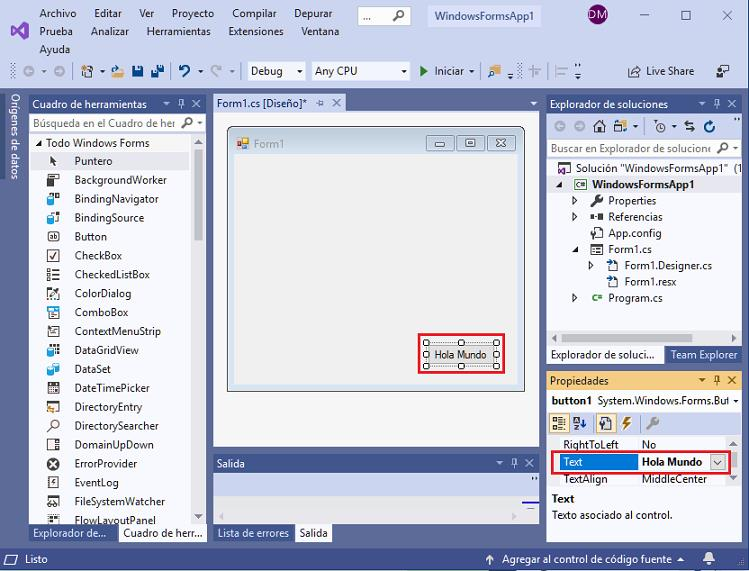 propiedad Content TextBox aplicacion universal windows visual Studio 2015